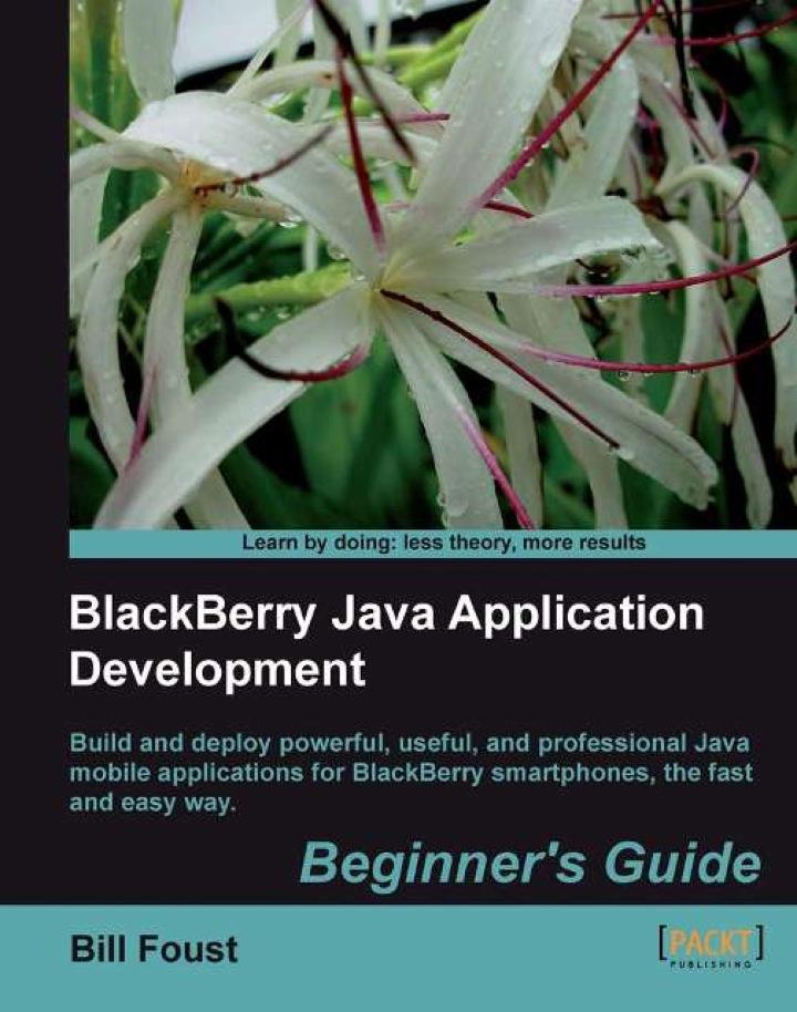 BlackBerry Java Application Development