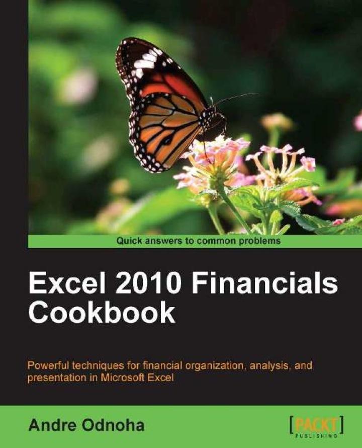 Excel 2010 Financials Cookbook
