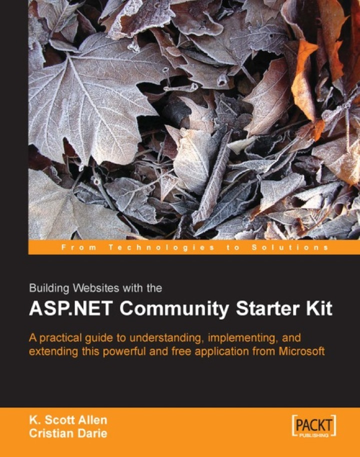 Building Websites with the ASP.NET Community Starter Kit