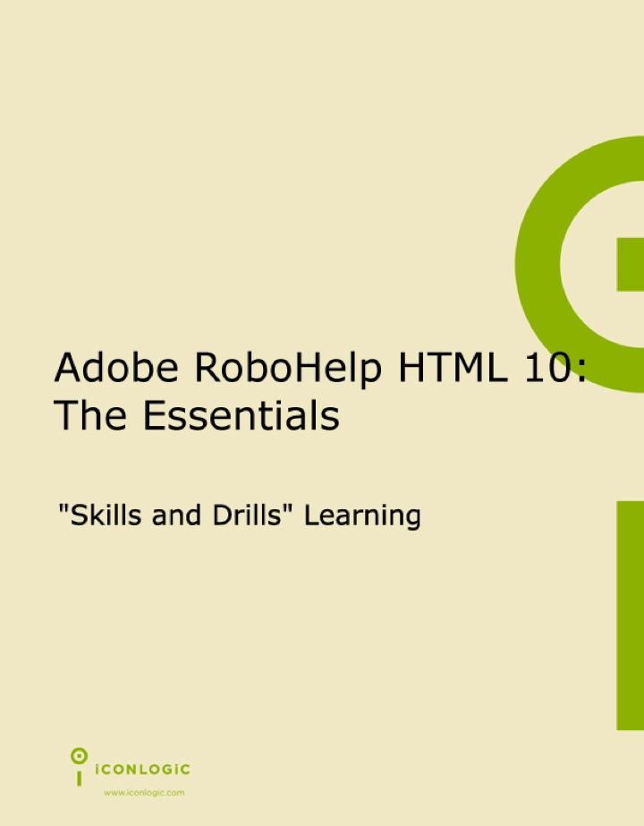 Adobe RoboHelp HTML 10: The Essentials (ePub)