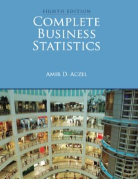 complete business statistics aczel 8th edition pdf