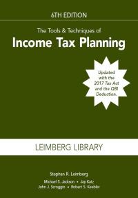 Tax planning tools
