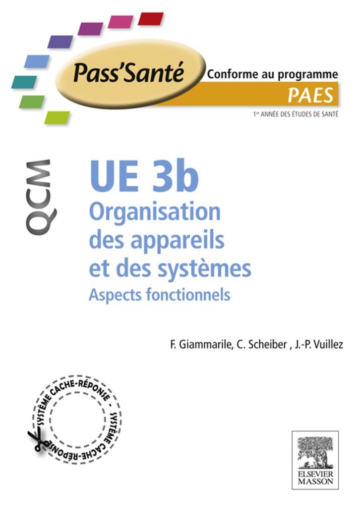 UE 3b - Organisation des appareils et des systèmes - QCM