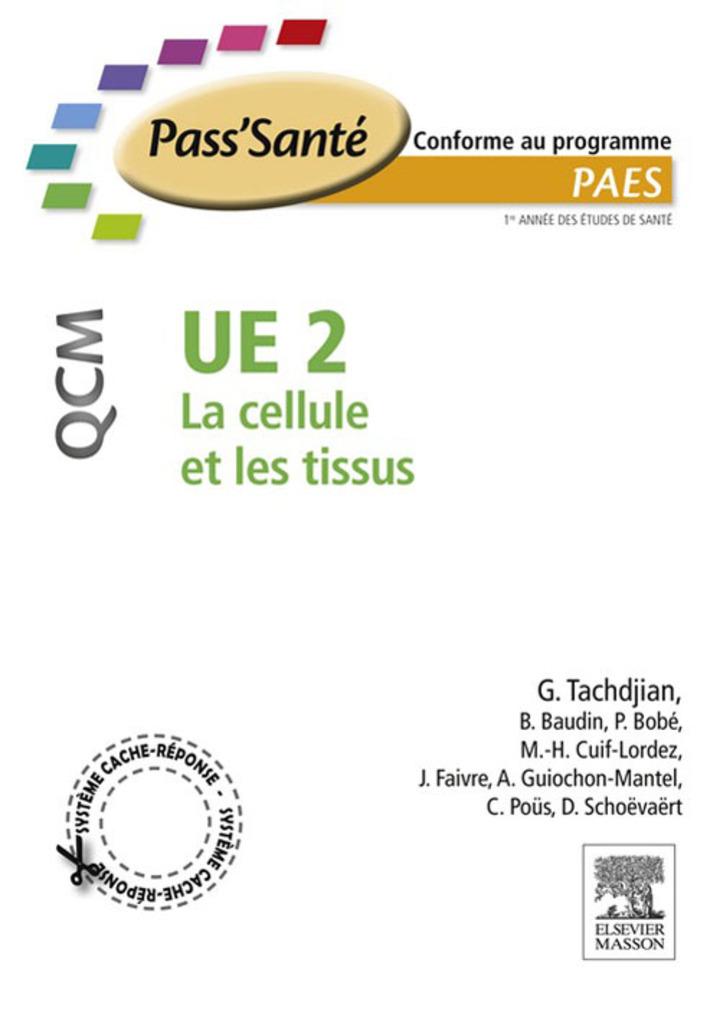 UE 2 - La cellule et les tissus - QCM