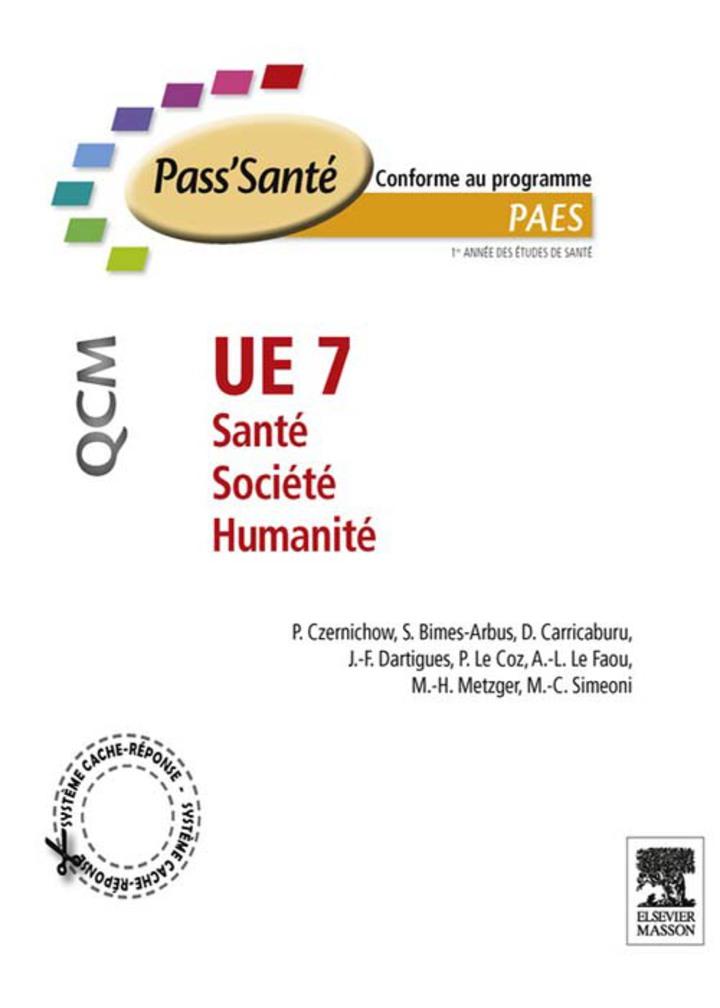 UE 7 - Santé - Société - Humanité - QCM