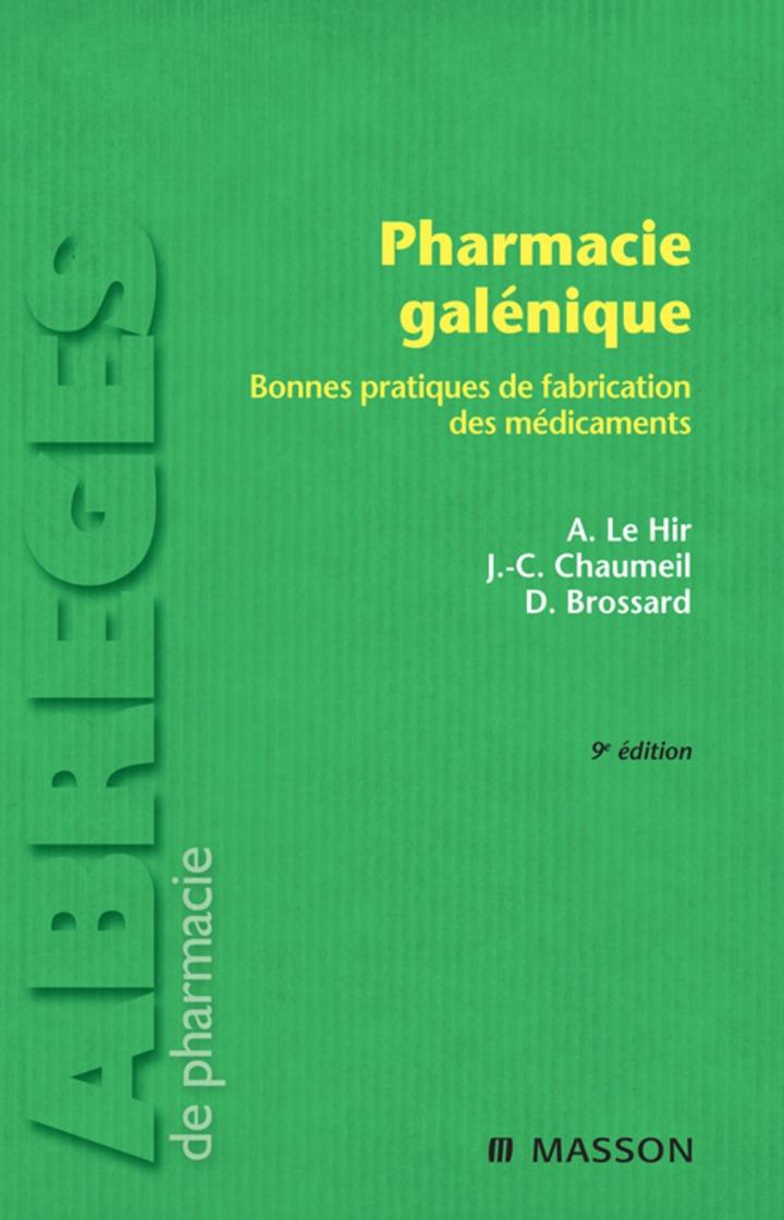 Pharmacie galénique