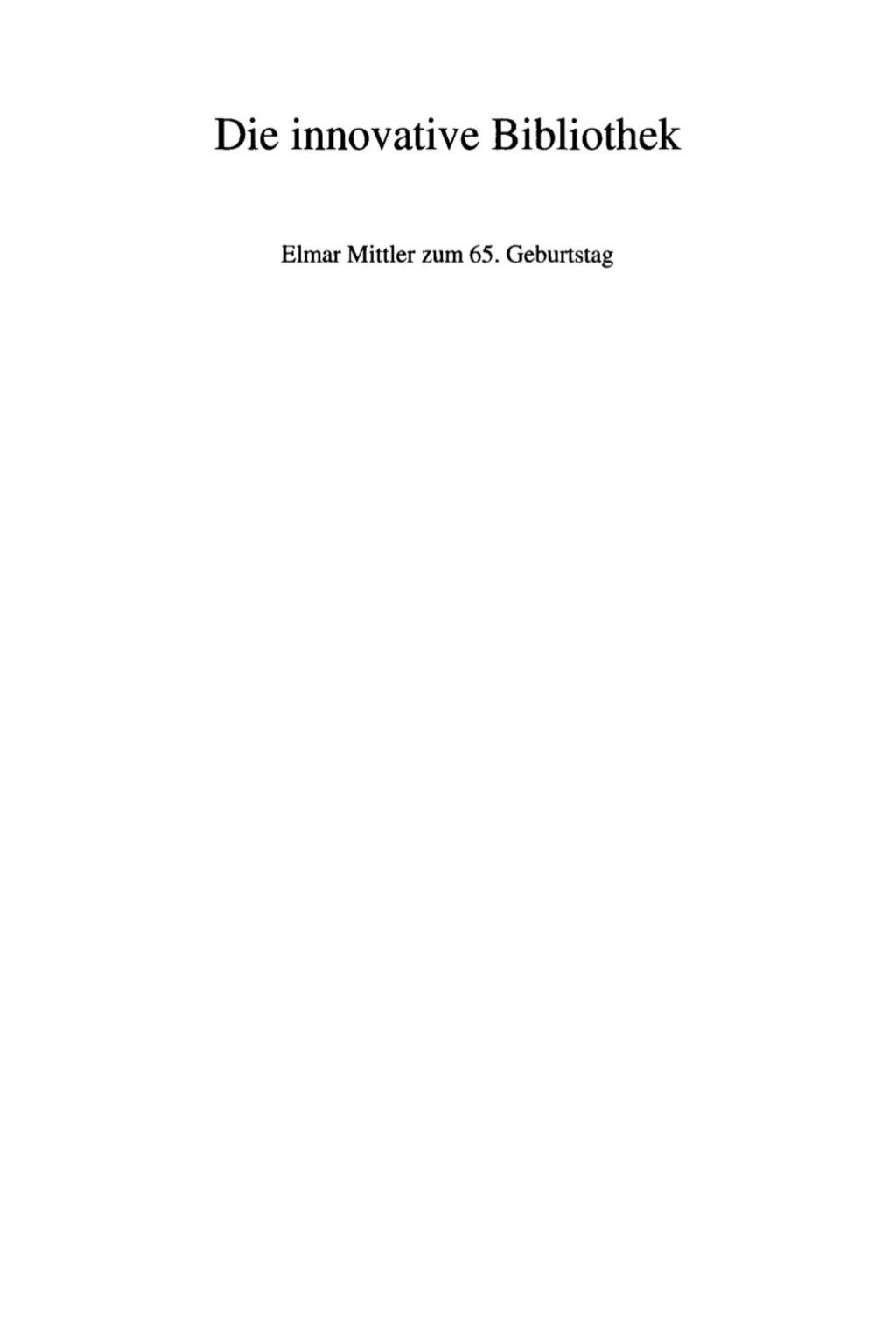 Die innovative Bibliothek (eBook) - Erland Kolding Nielsen