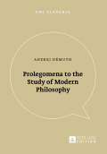 Prolegomena to the Study of Modern Philosophy 9783653960709