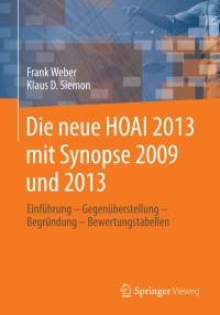 Die Neue Hoai 2013 Mit Synopse 2009 Und 2013 9783658032104
