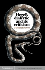 """Hegel's Dialectic and its Criticism"" (CSM19780511867620)"