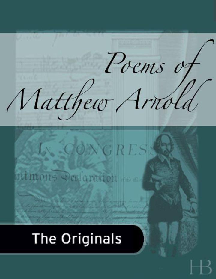 Poems of Matthew Arnold