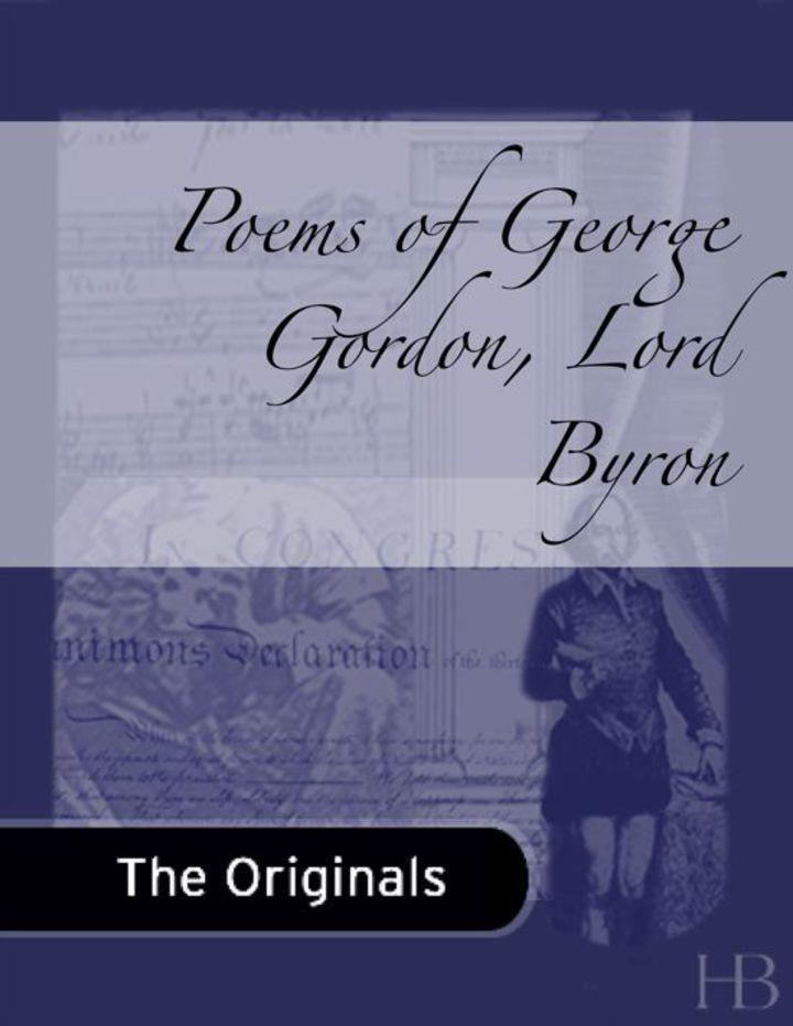Poems of George Gordon, Lord Byron