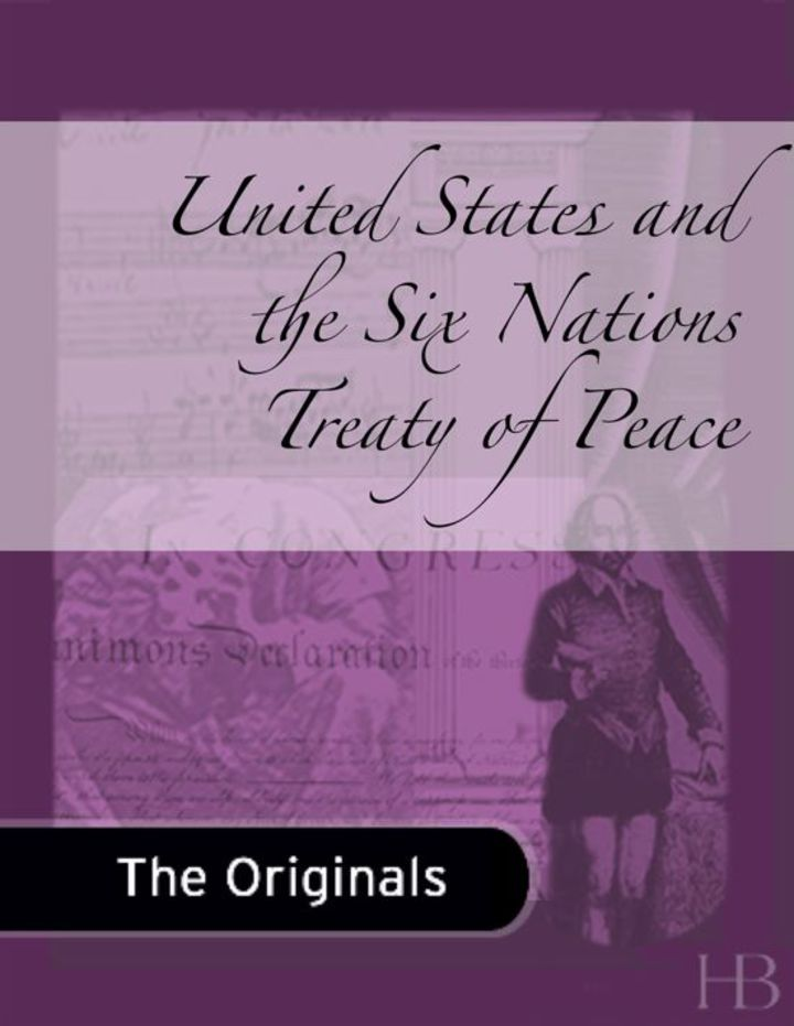 United States and the Six Nations Treaty of Peace