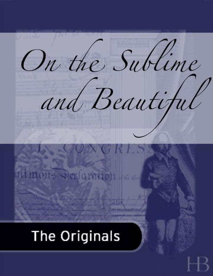 On the Sublime and Beautiful