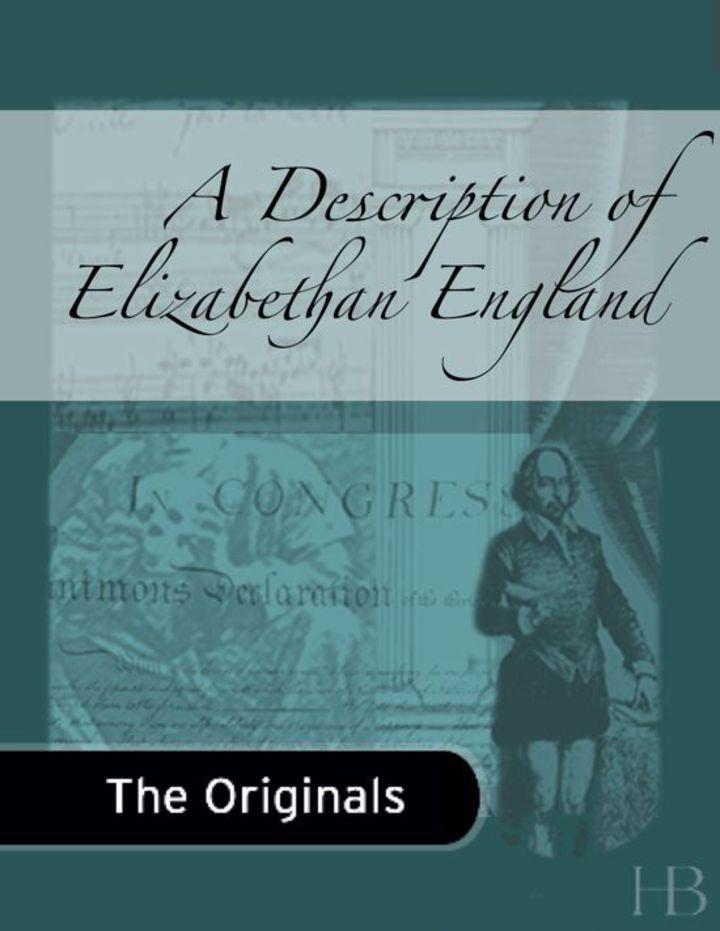 A Description of Elizabethan England