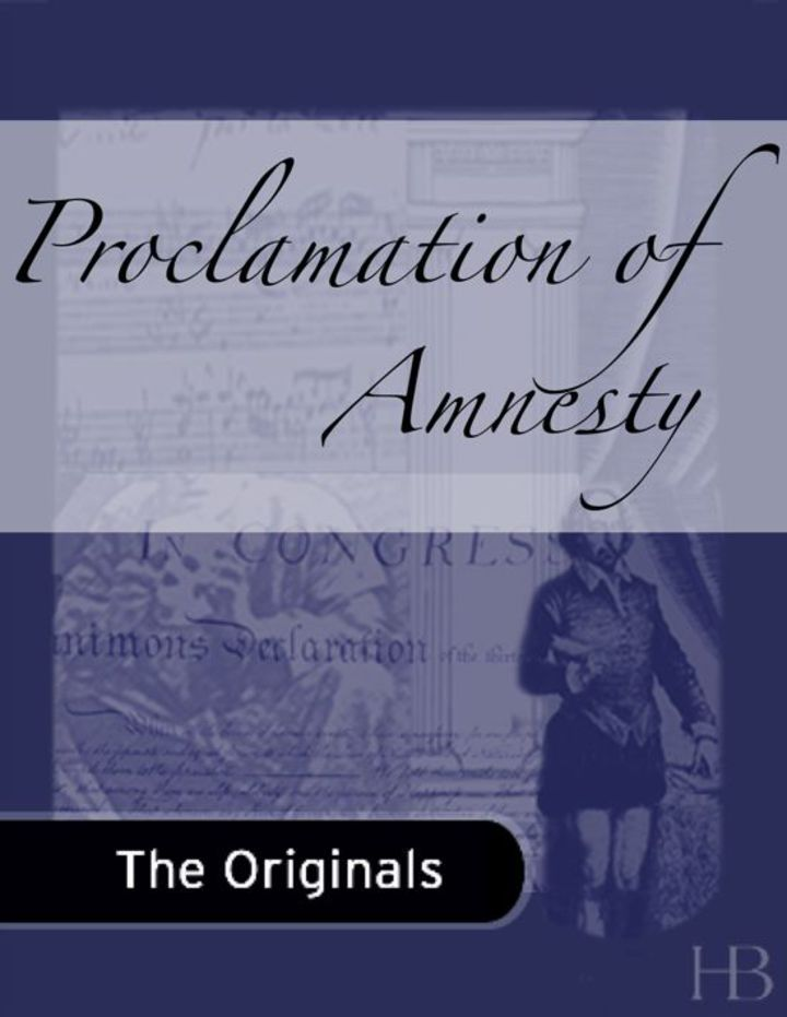 Proclamation of Amnesty