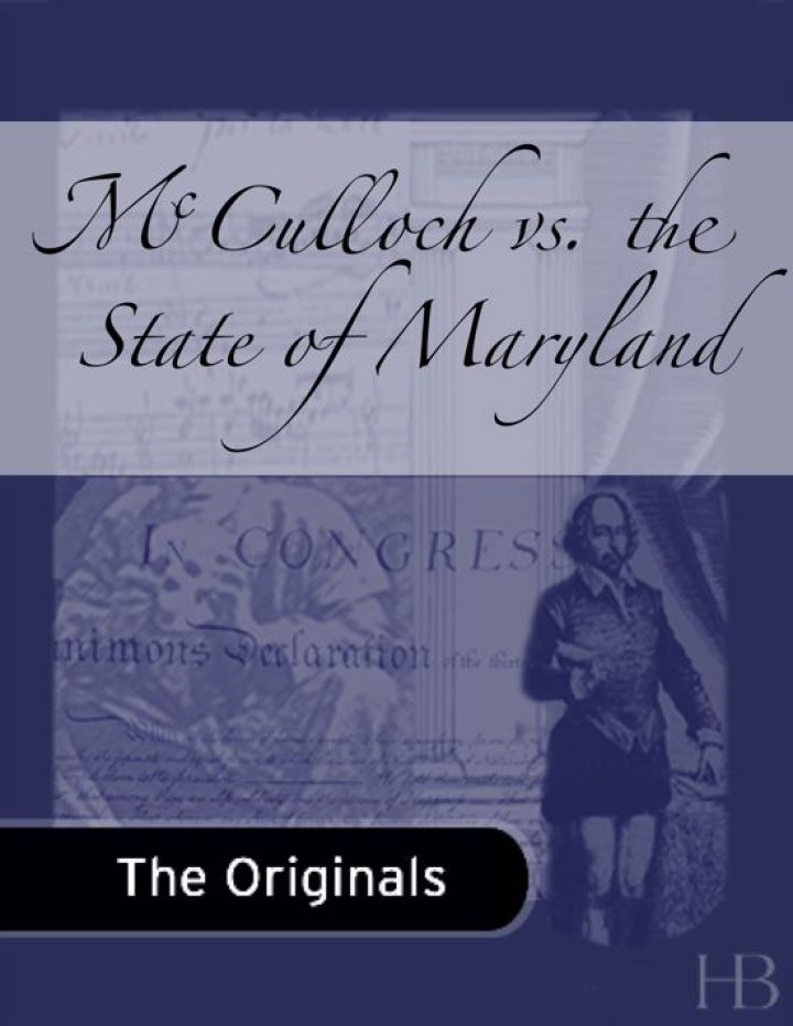 McCulloch vs. the State of Maryland
