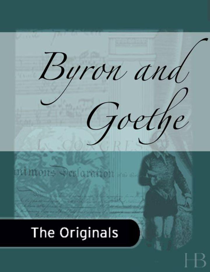 Byron and Goethe