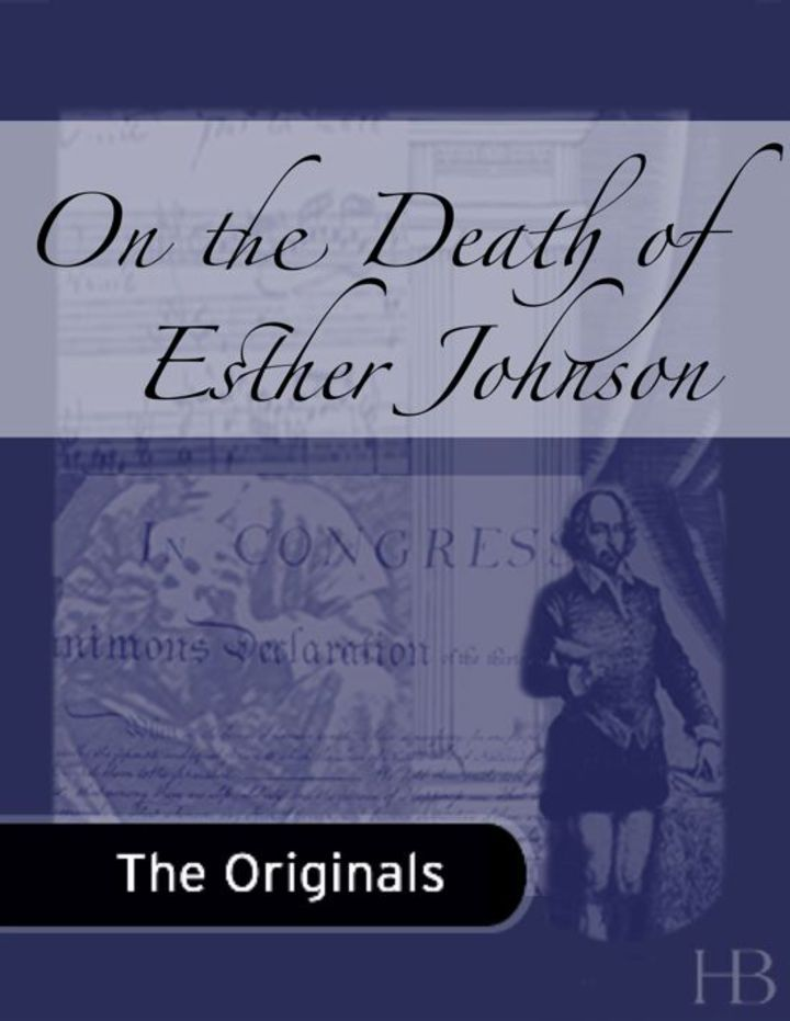 On the Death of Esther Johnson