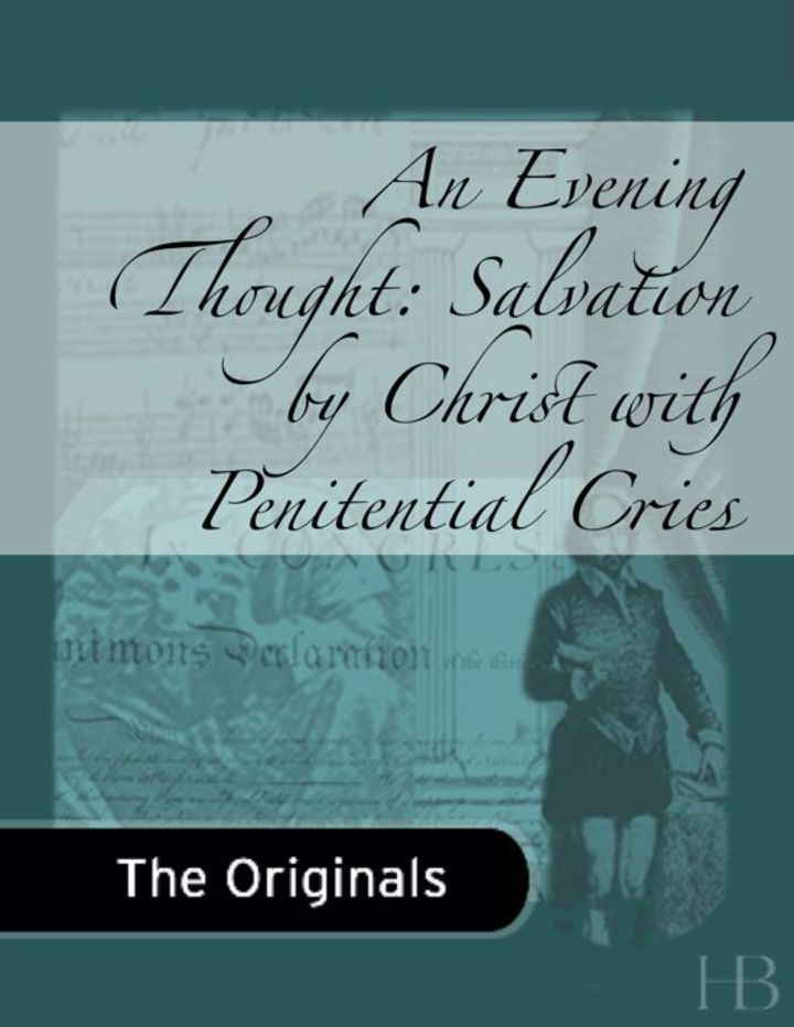 An Evening Thought: Salvation by Christ with Penitential Cries