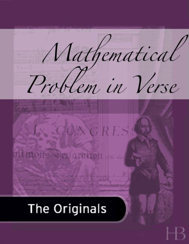 Mathematical Problem in Verse