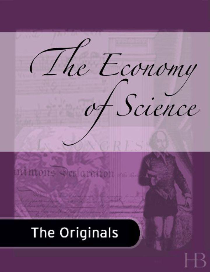 The Economy of Science