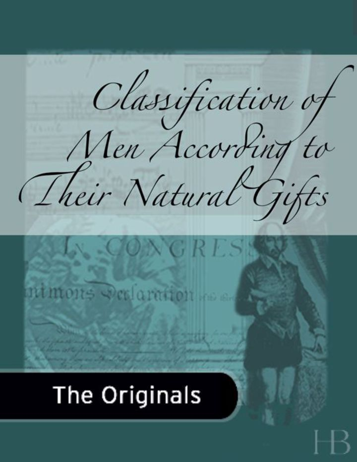 Classification of Men According to Their Natural Gifts