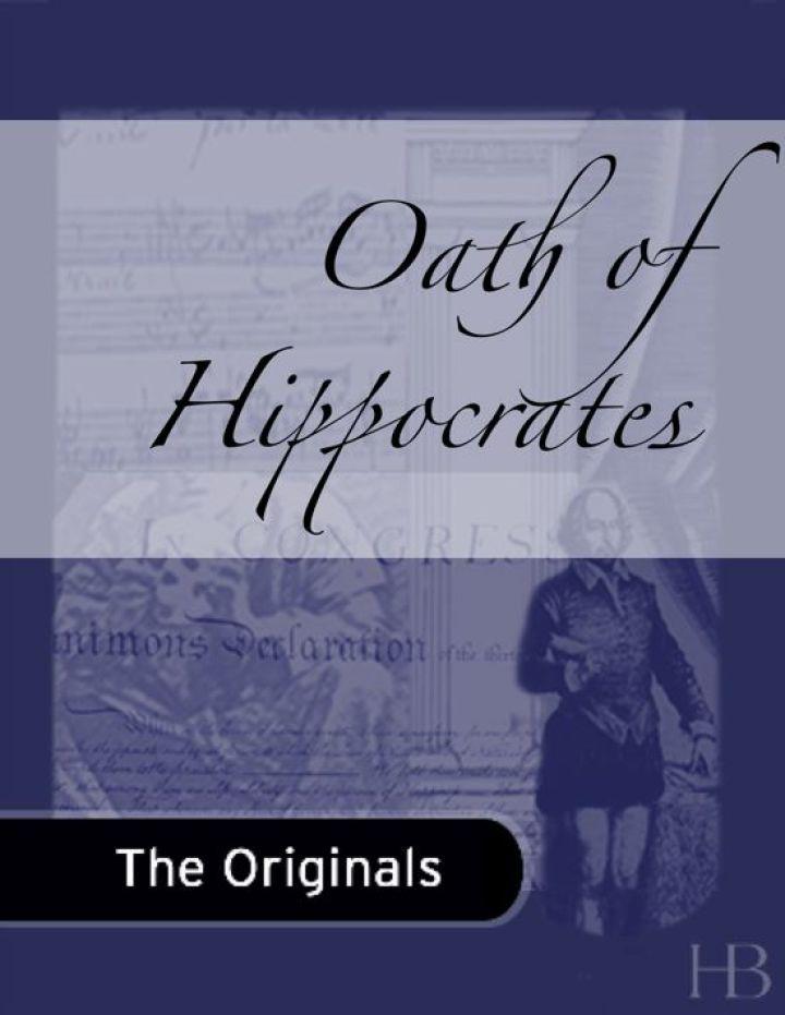 Oath of Hippocrates