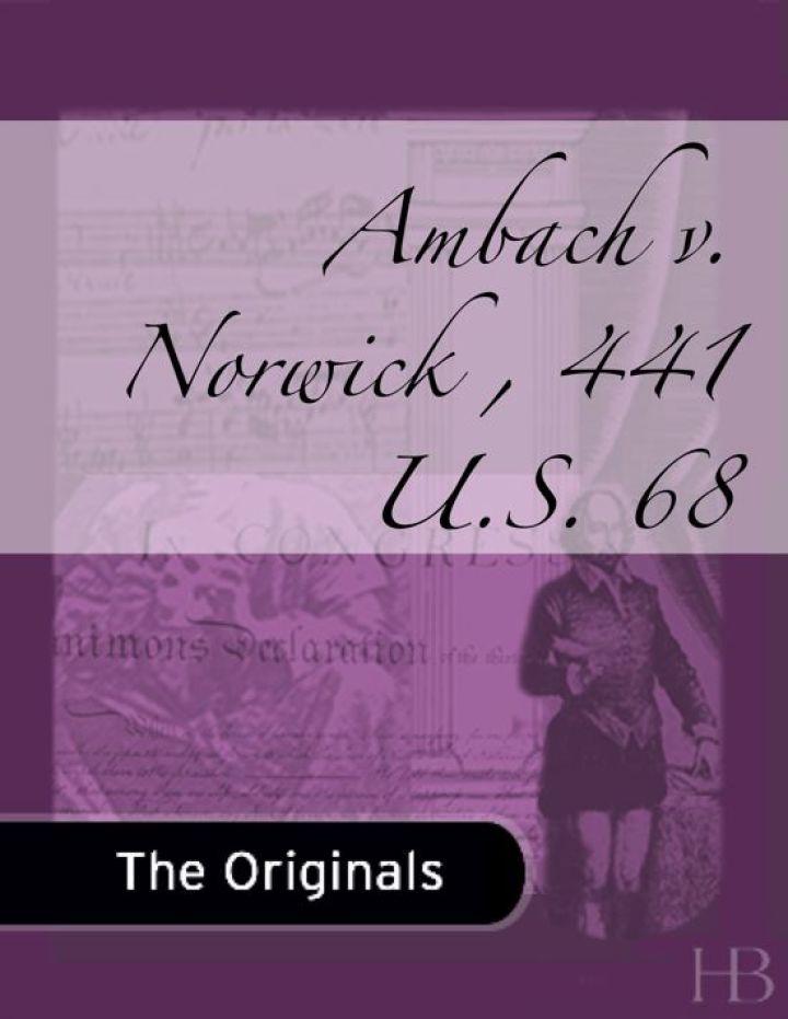 Ambach v. Norwick , 441 U.S. 68