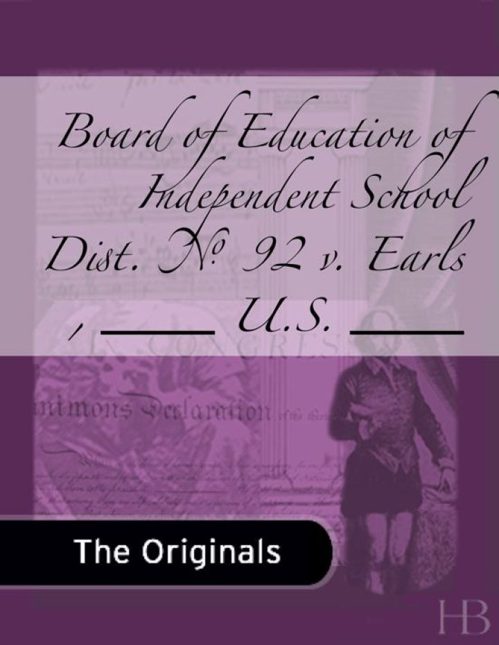 Board of Education of Independent School Dist. No. 92 v. Earls , ___ U.S. ___