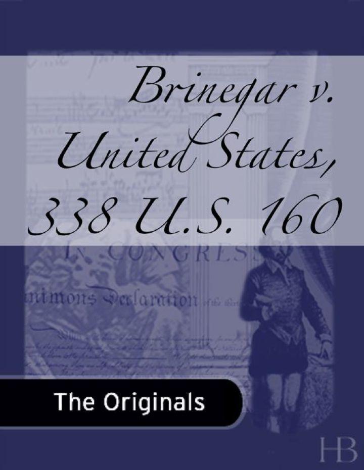 Brinegar v. United States, 338 U.S. 160