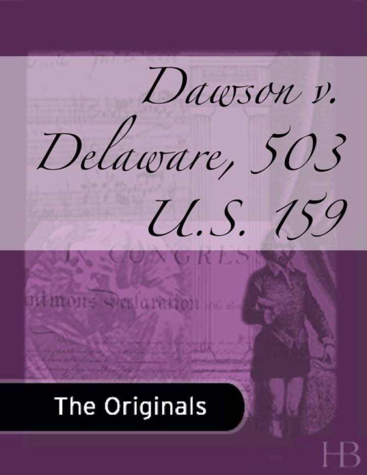 Dawson v. Delaware, 503 U.S. 159