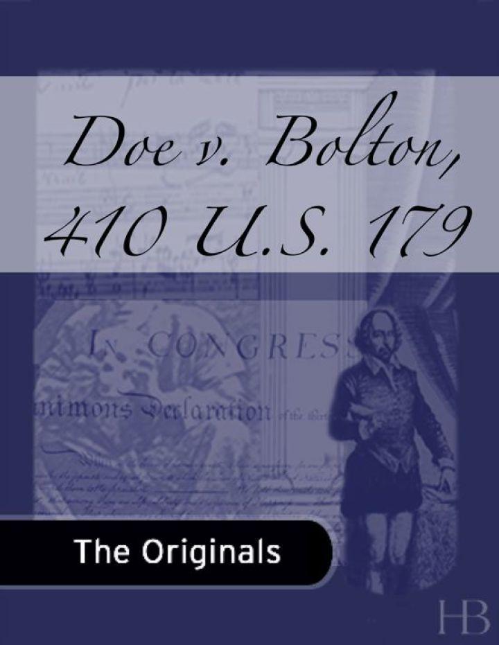 Doe v. Bolton, 410 U.S. 179