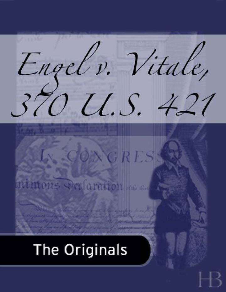 Engel v. Vitale, 370 U.S. 421