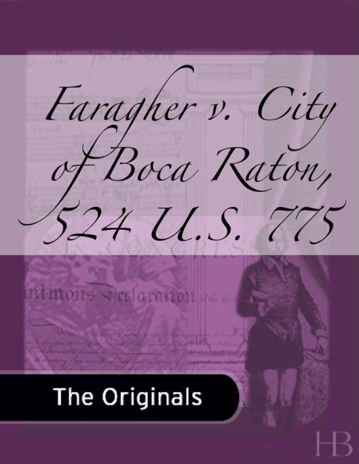Faragher v. City of Boca Raton, 524 U.S. 775