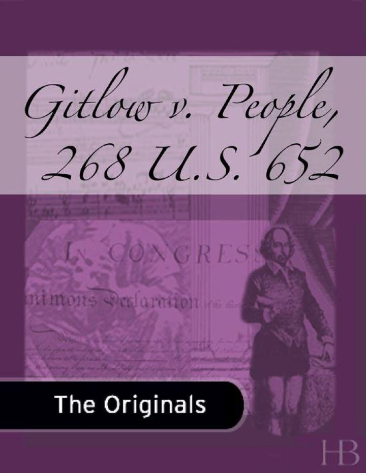 Gitlow v. People, 268 U.S. 652
