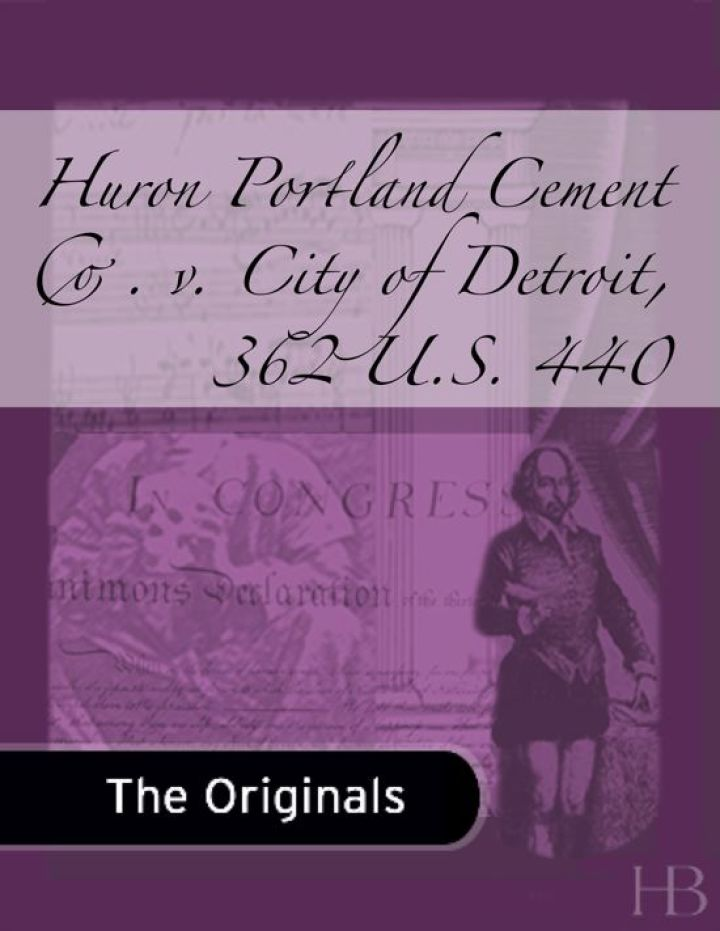 Huron Portland Cement Co. v. City of Detroit, 362 U.S. 440