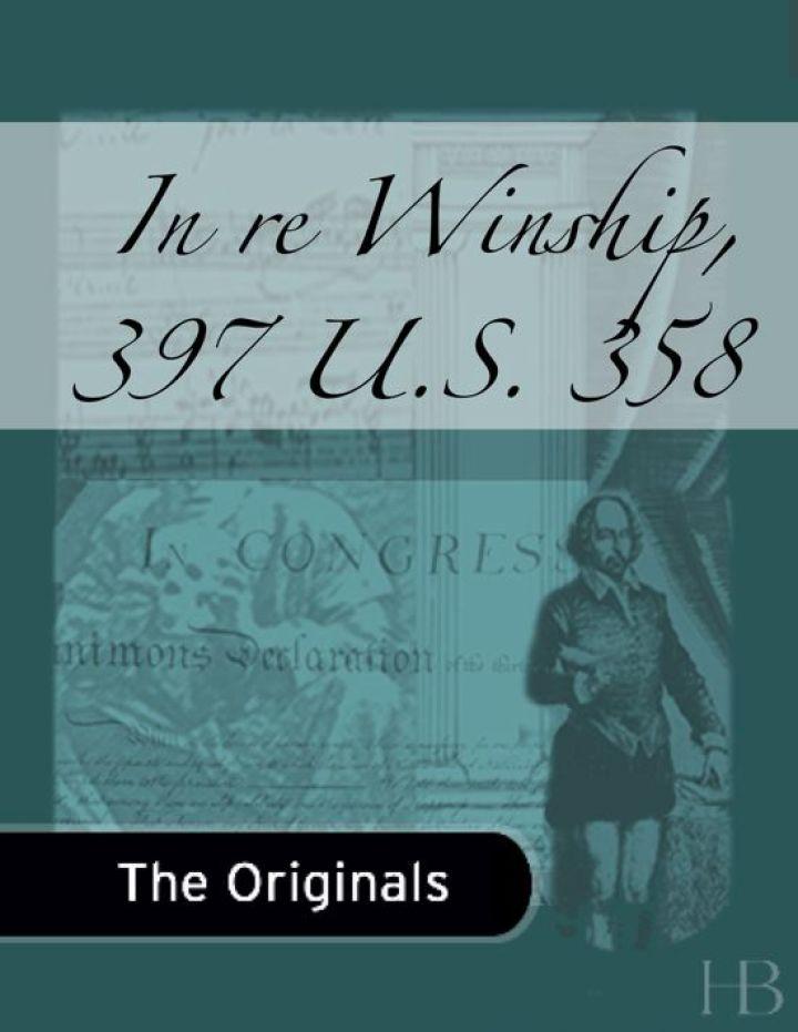 In re Winship, 397 U.S. 358