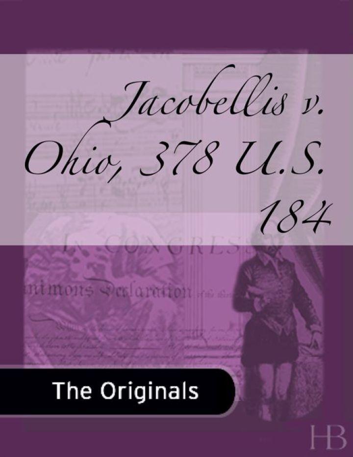 Jacobellis v. Ohio, 378 U.S. 184