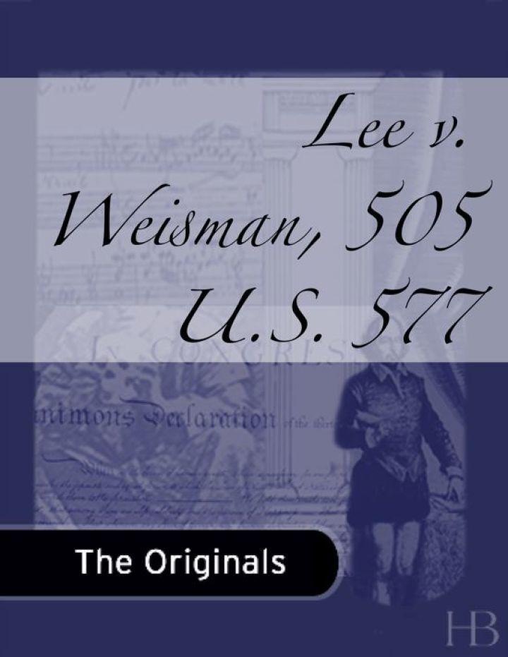 Lee v. Weisman, 505 U.S. 577