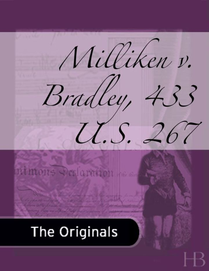 Milliken v. Bradley, 433 U.S. 267