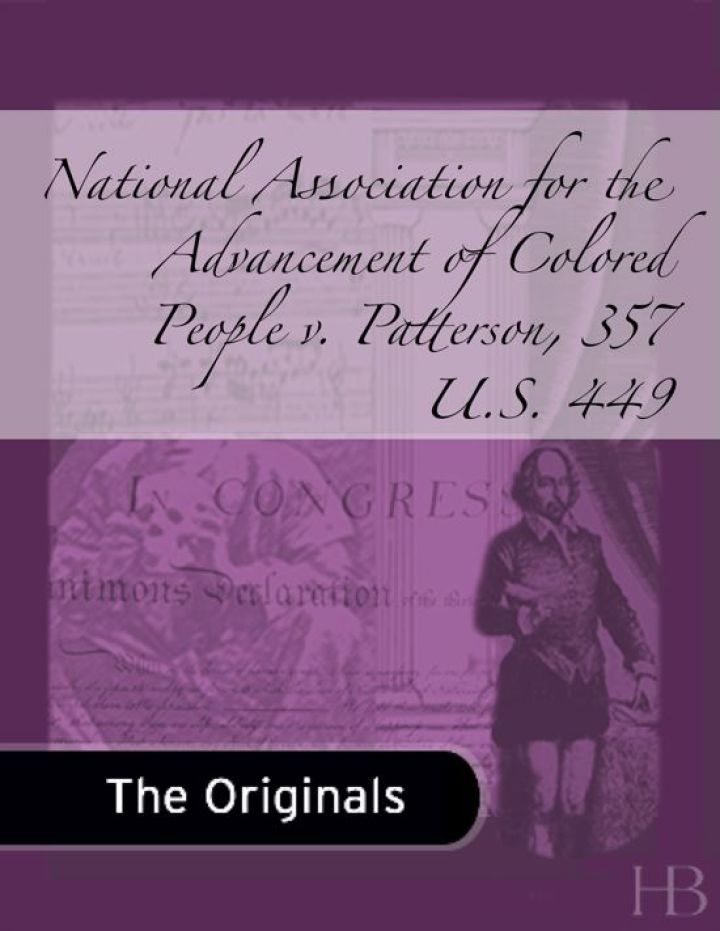 National Association for the Advancement of Colored People v. Patterson, 357 U.S. 449
