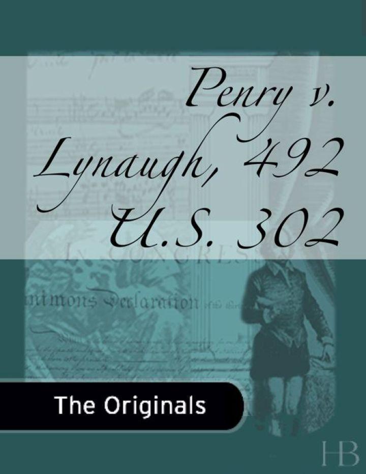 Penry v. Lynaugh, 492 U.S. 302