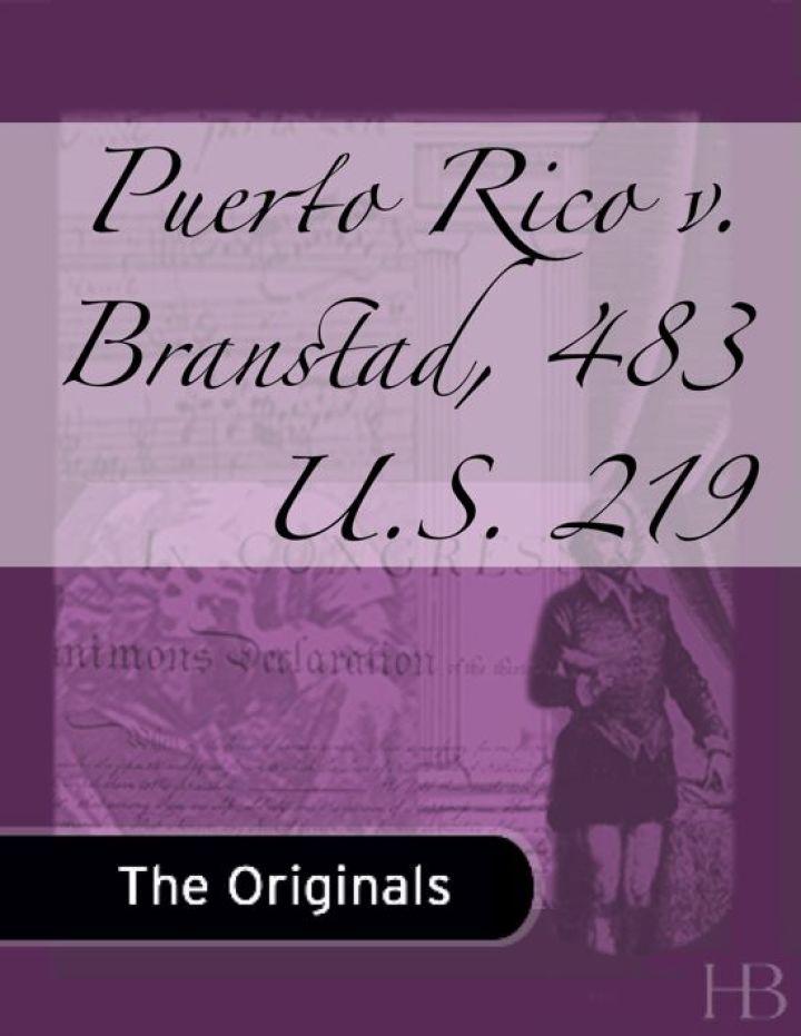 Puerto Rico v. Branstad, 483 U.S. 219