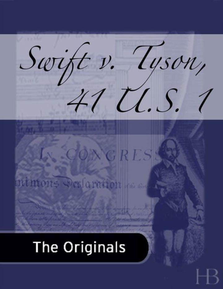 Swift v. Tyson, 41 U.S. 1