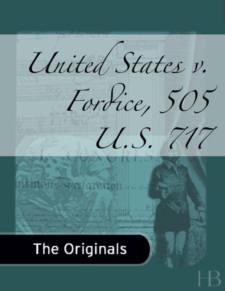United States v. Fordice, 505 U.S. 717