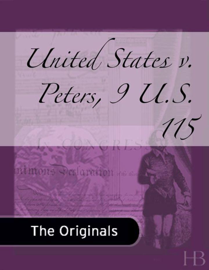 United States v. Peters, 9 U.S. 115