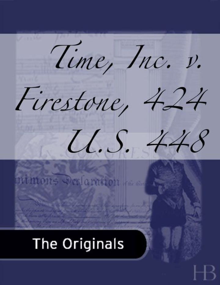 Time, Inc. v. Firestone, 424 U.S. 448