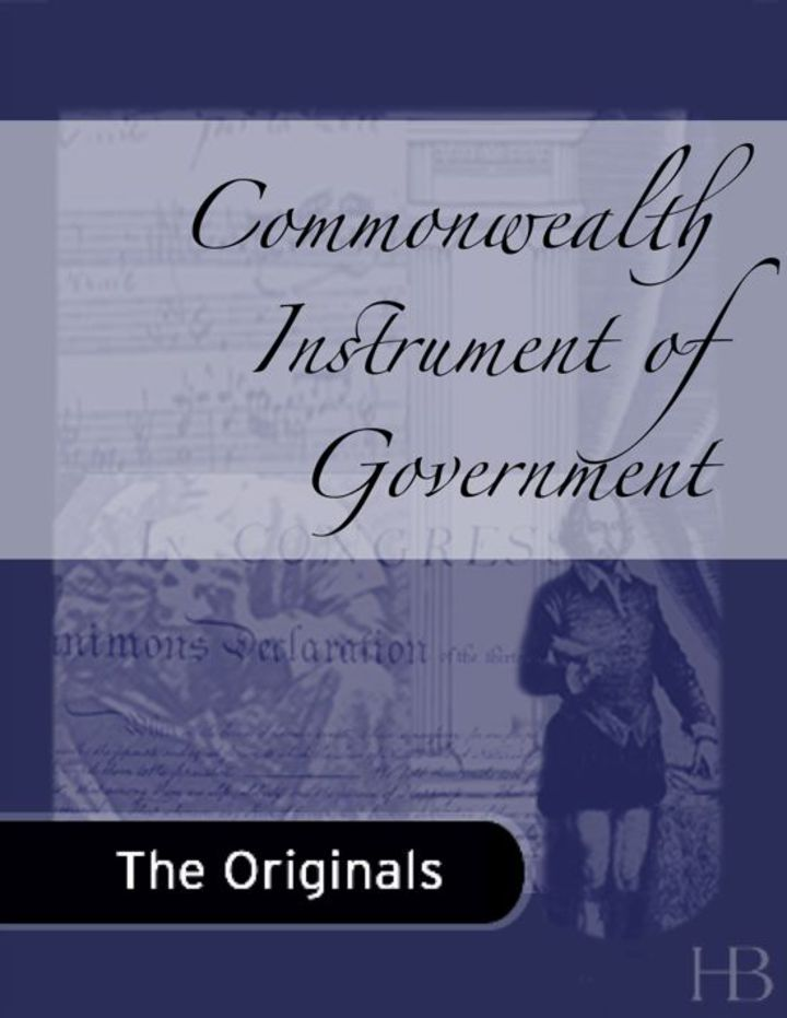 Commonwealth Instrument of Government