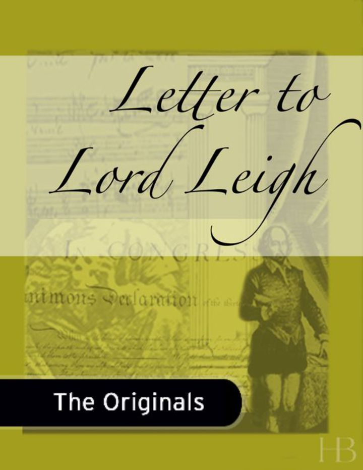 Letter to Lord Leigh
